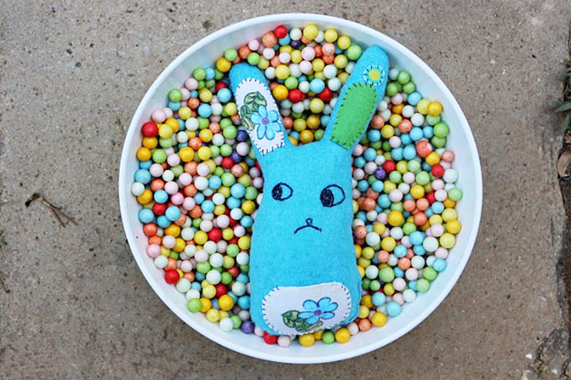 Felt-bunny-softie