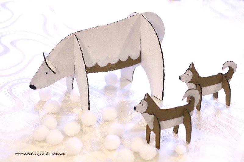 DIY-cardboard-polar-bear-huskies