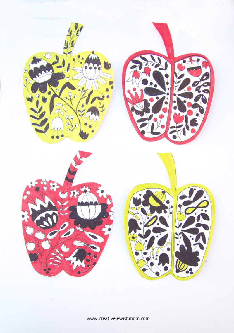 Folk-art-pattern-apple-card