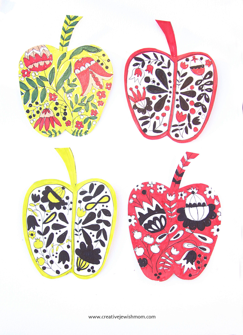 Folk-art-apple-rosh-hashana-craft