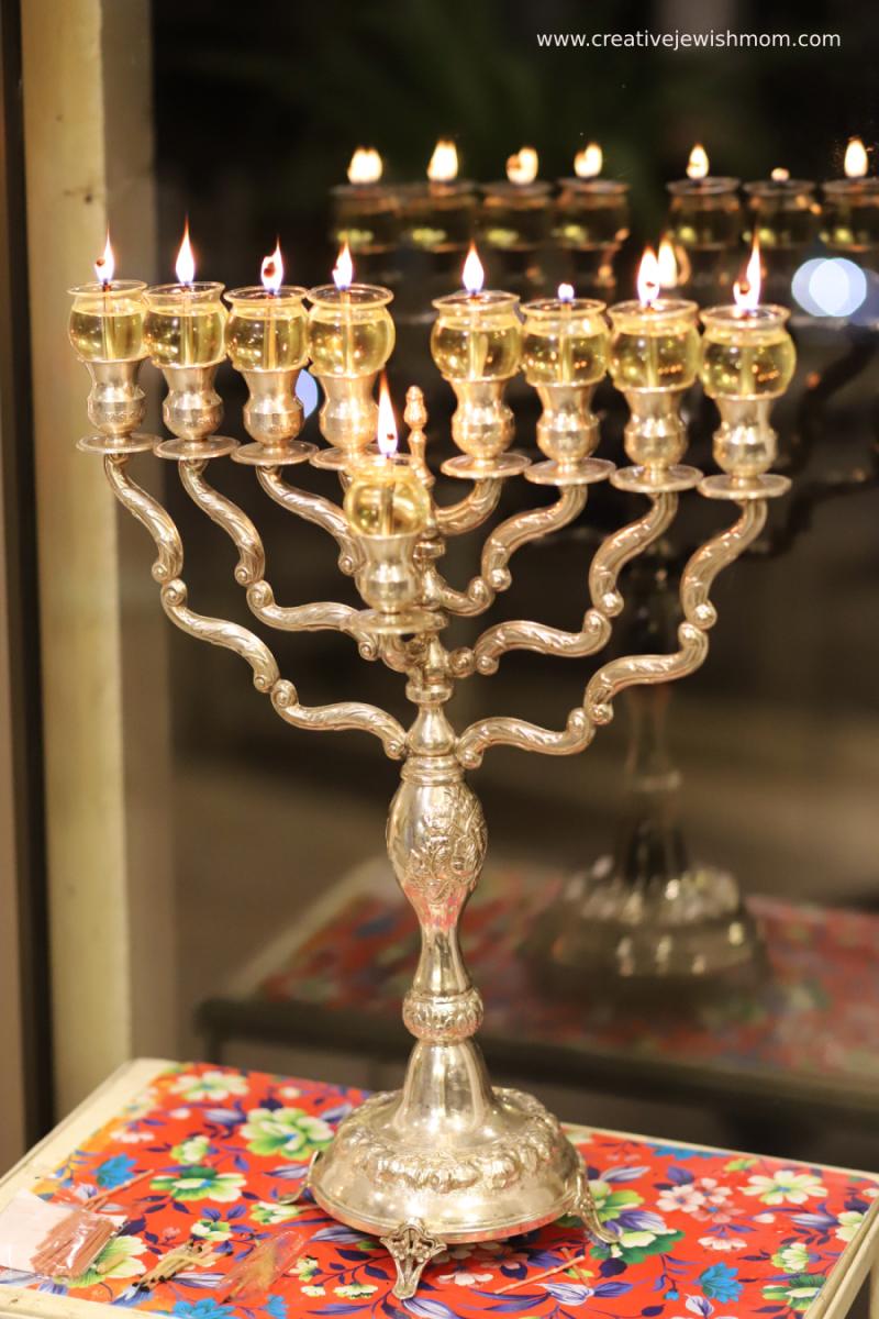 Silver-hanukkah-menorah