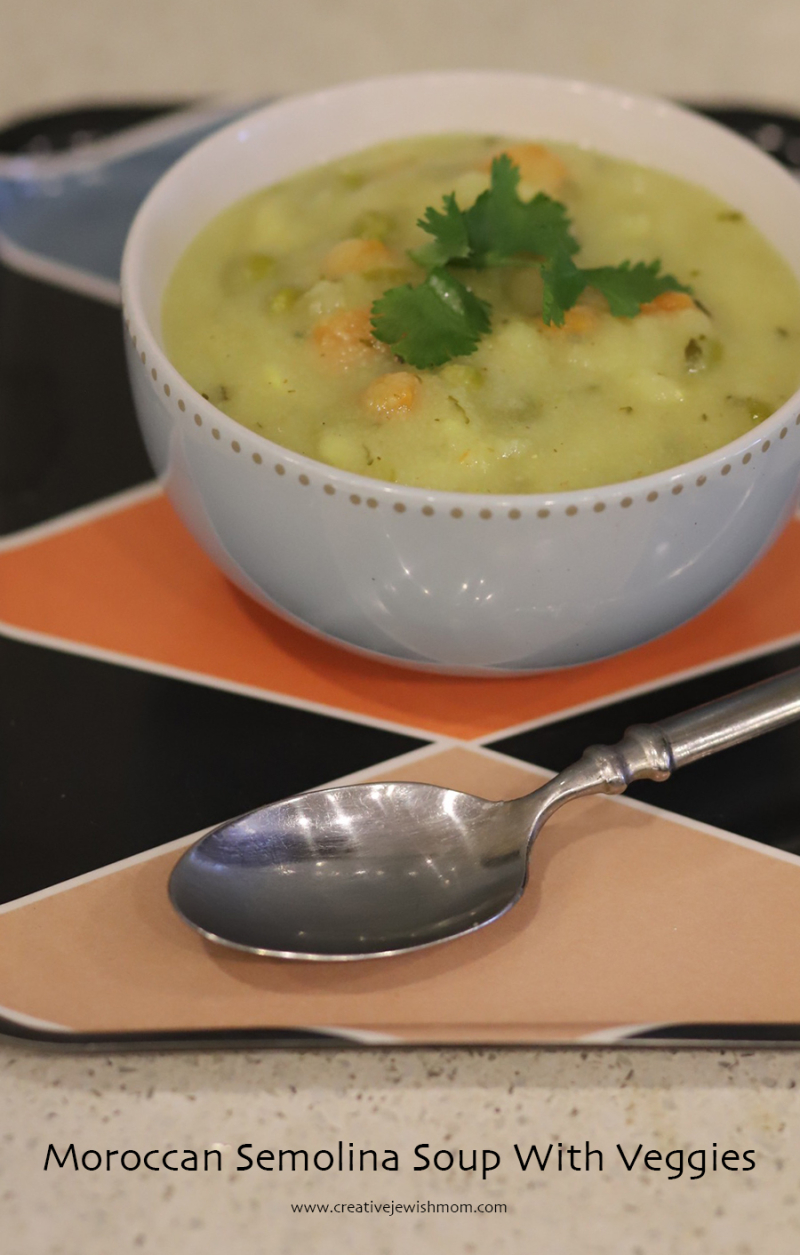 Moroccan semolina soup with veggies