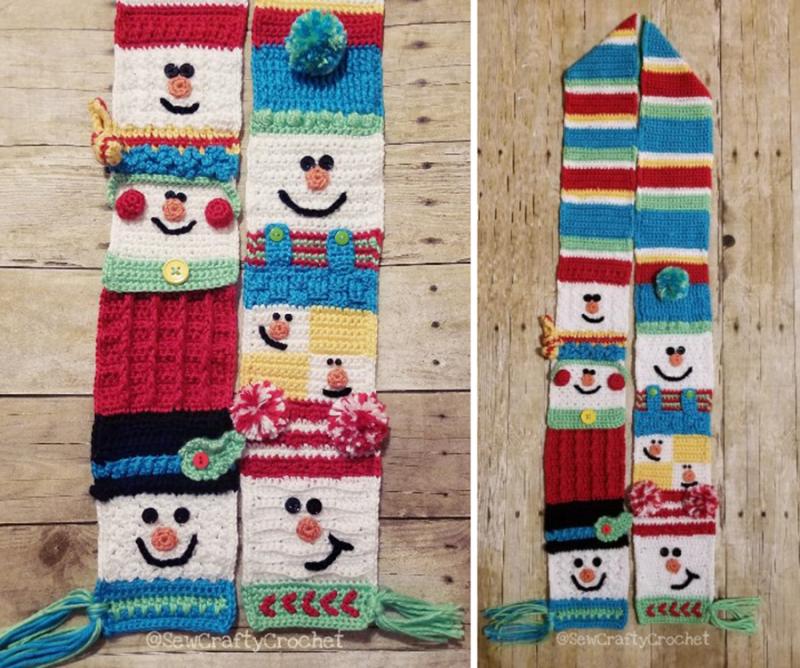 Crochet-snowman-scarf