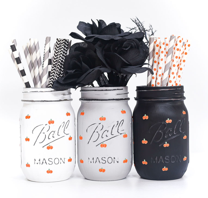Painted-Pumpkins-Mason-Jars