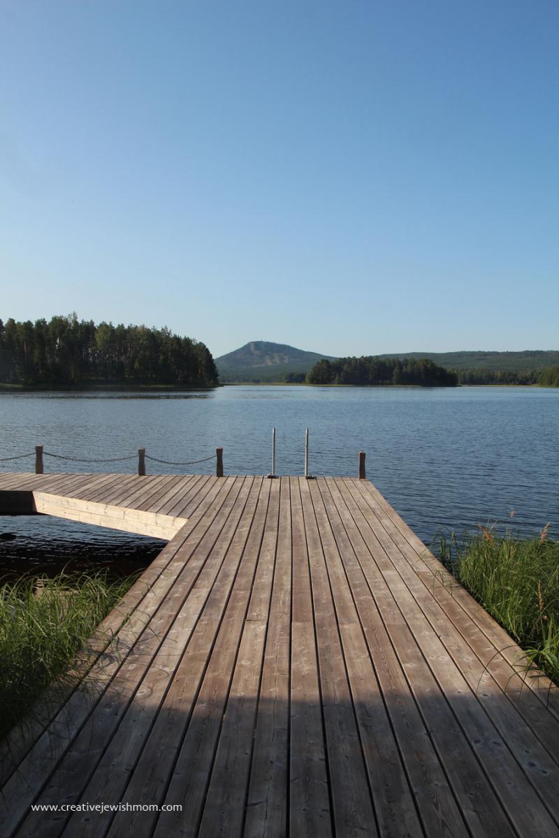 Swedish-summer-swimming-lake-dock