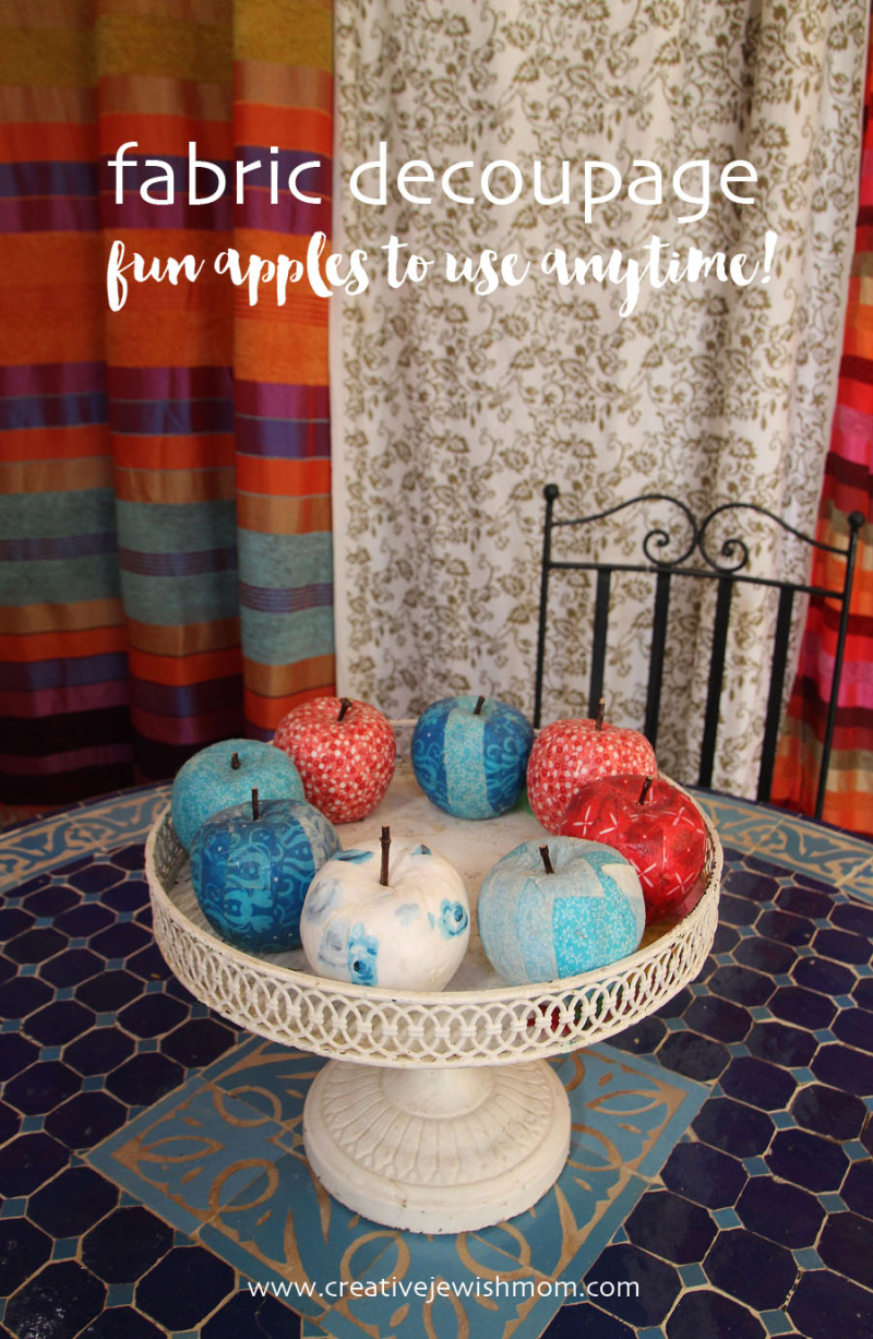Fall-apples-with-fabric-craft