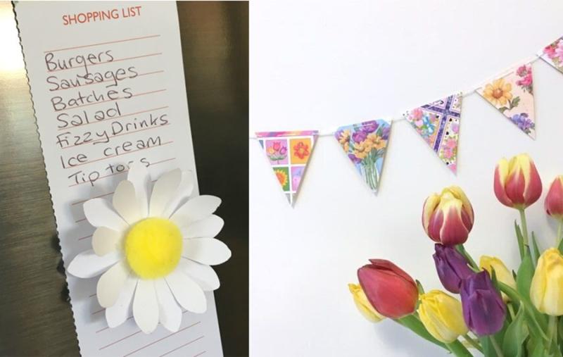 Greeting-card-flag-garland daisy-fridge-magnet