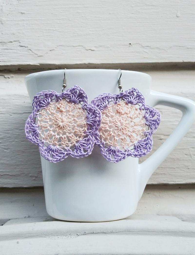 Crochet-flower-earrings