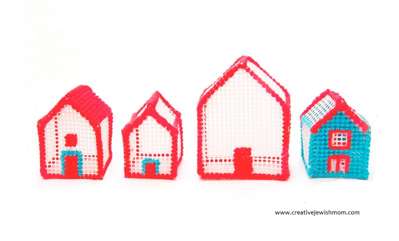 Plastic-canvas-little-houses