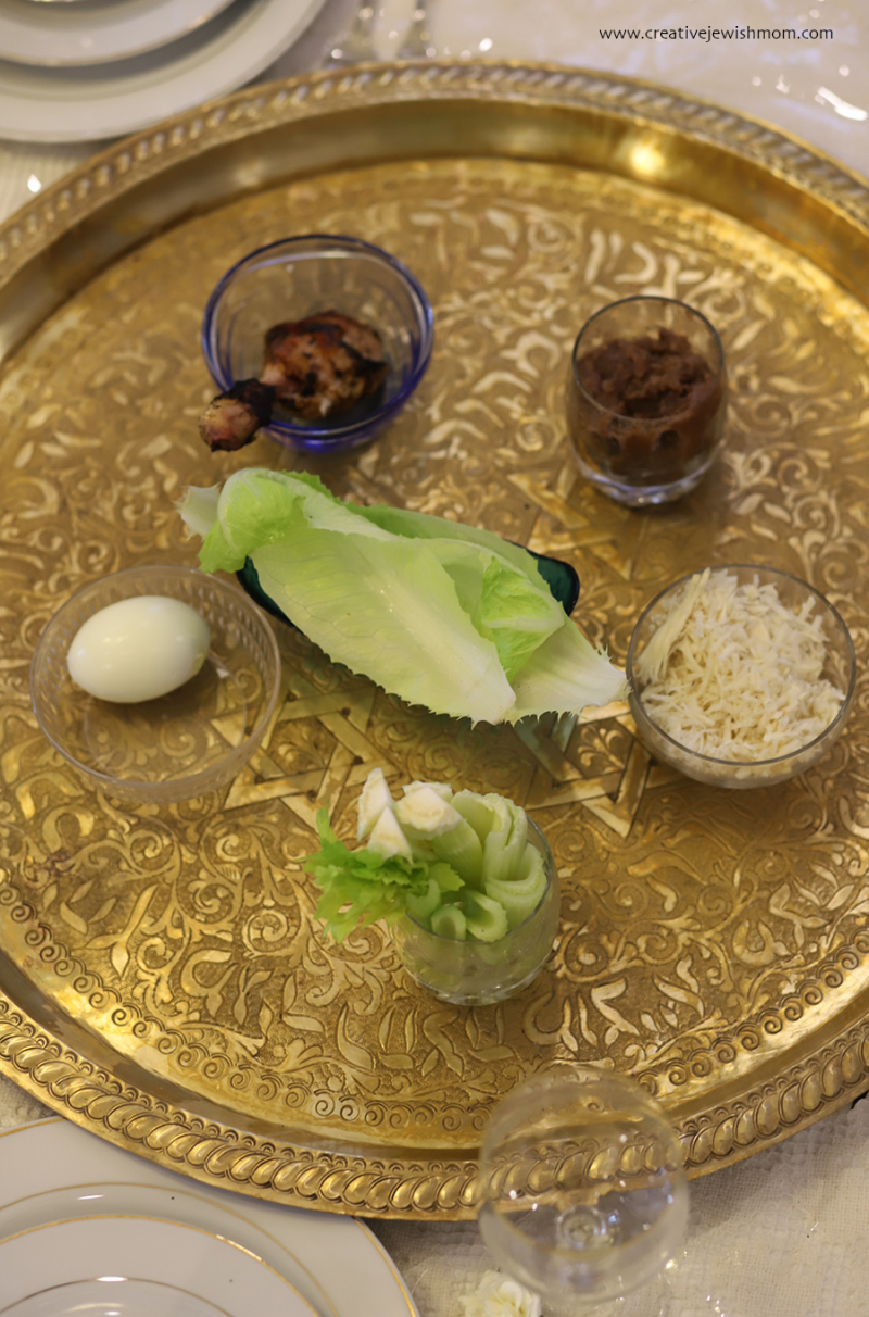 Moroccan-brass-passover-plate
