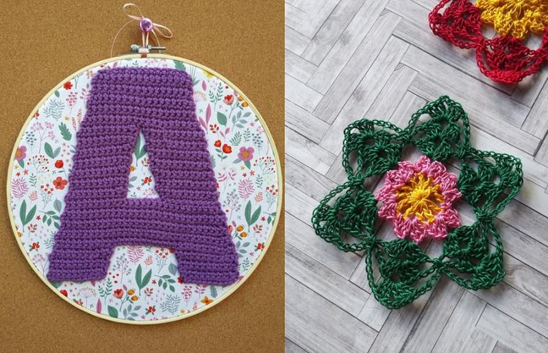 Crocheted-initial-baby-art
