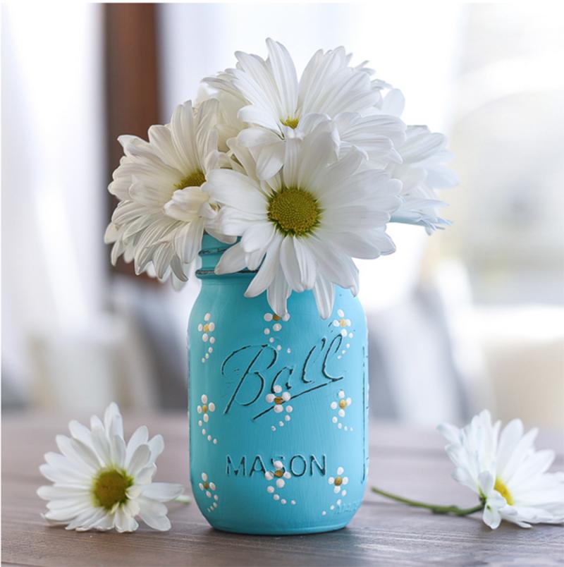 Mason-jar-tiny-daisy-pattern
