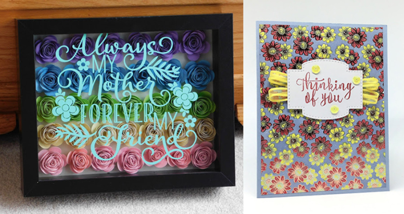 Shadow-box-mother's-day-art
