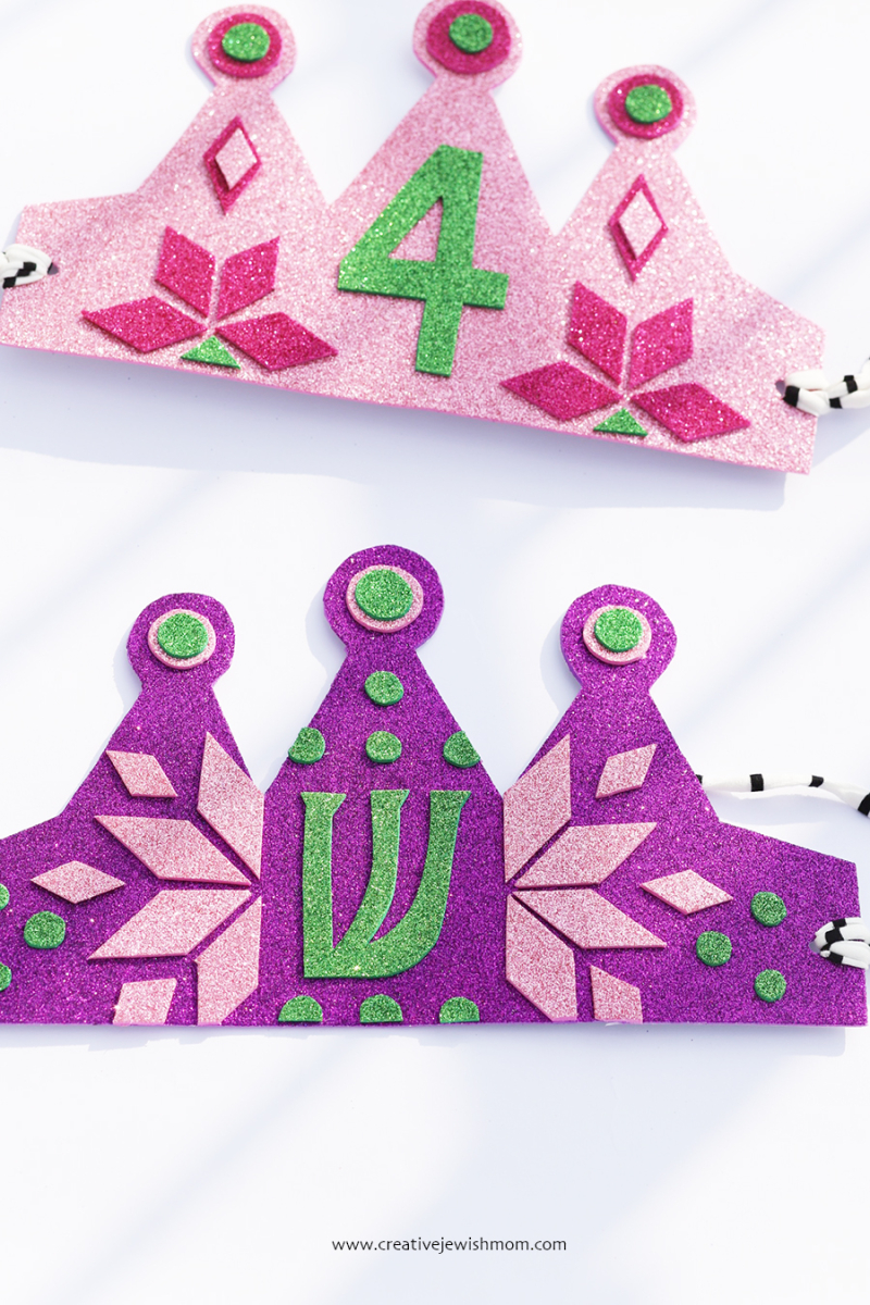 DIY-birthday-crown-with-initial