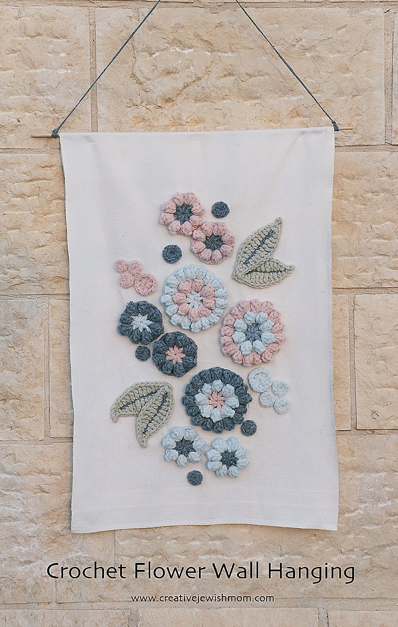 Crochet-flower-wallhanging