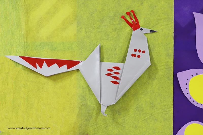 Giant-origami-partridge-bird