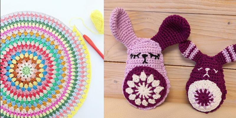 Crochet-round-granny-pillow crochet-rabbit