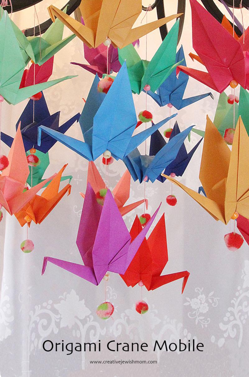 DIY-origami-crane-mobile