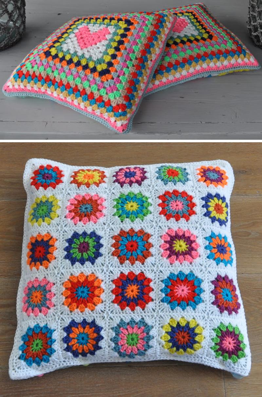 Granny-heart-pillow