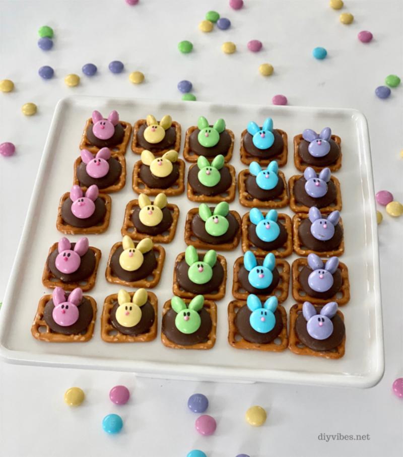 No-bake-bunny-pretzels