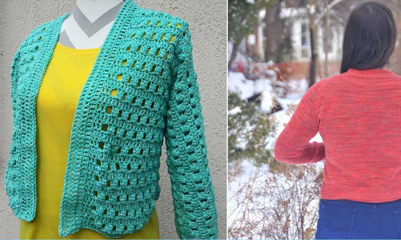 Free-spring-crocheted-cardigan-pattern feather-weight-knit-cardigan