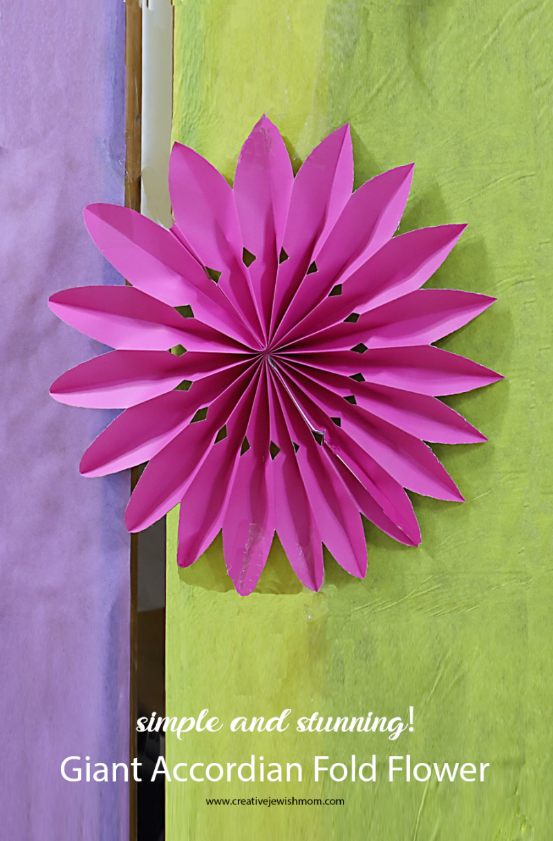DIY Paper Accordian Fold Flower