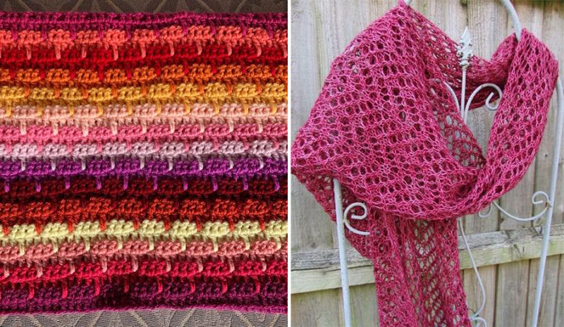 Larks foot crochet lacy knit scarf