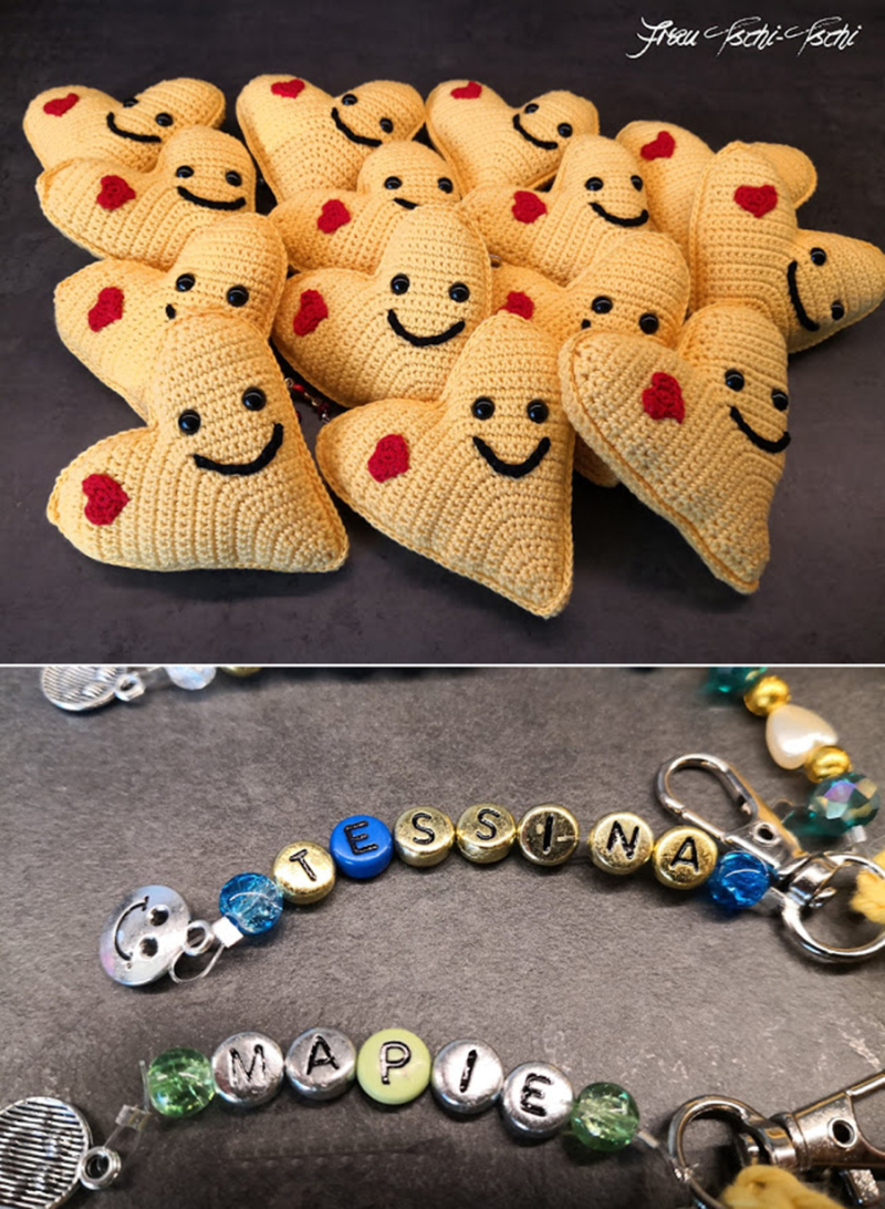 Amigurumi-crocheted-heart-key-chain