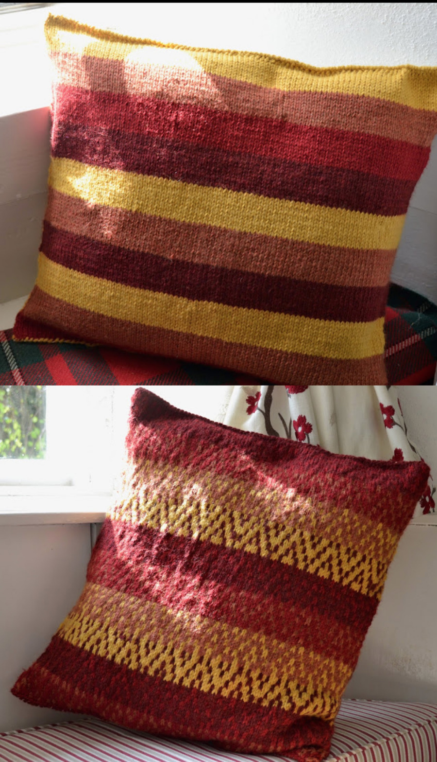 Knit-pillows-stripes