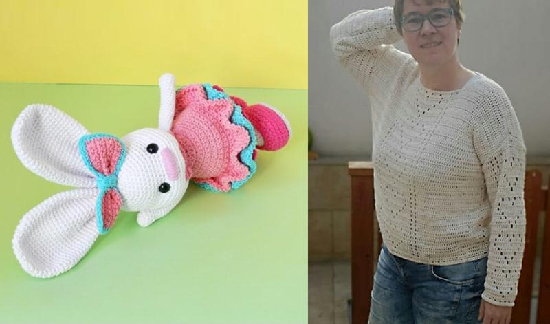 Crocheted-filet-hearts