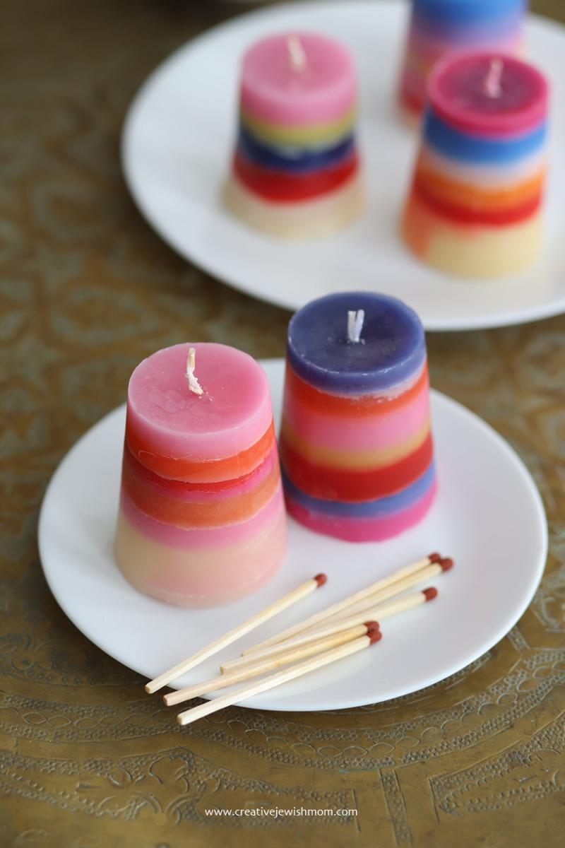 DIY-havdalah-candles-old-candles-simple-kid's-craft