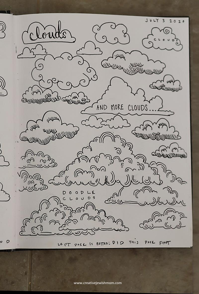 Doodle-clouds
