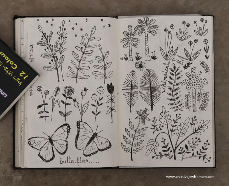 Tropical-botanic-doodles