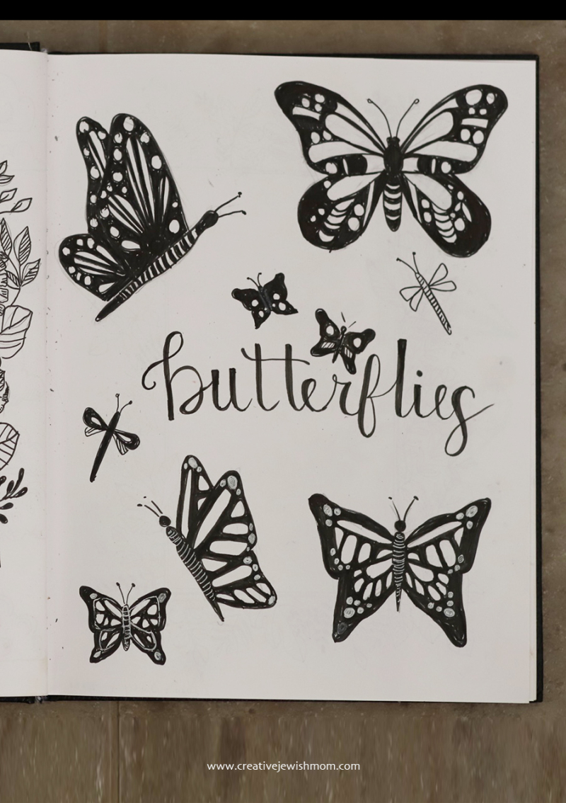 Sketchbook-butterflies-doodle