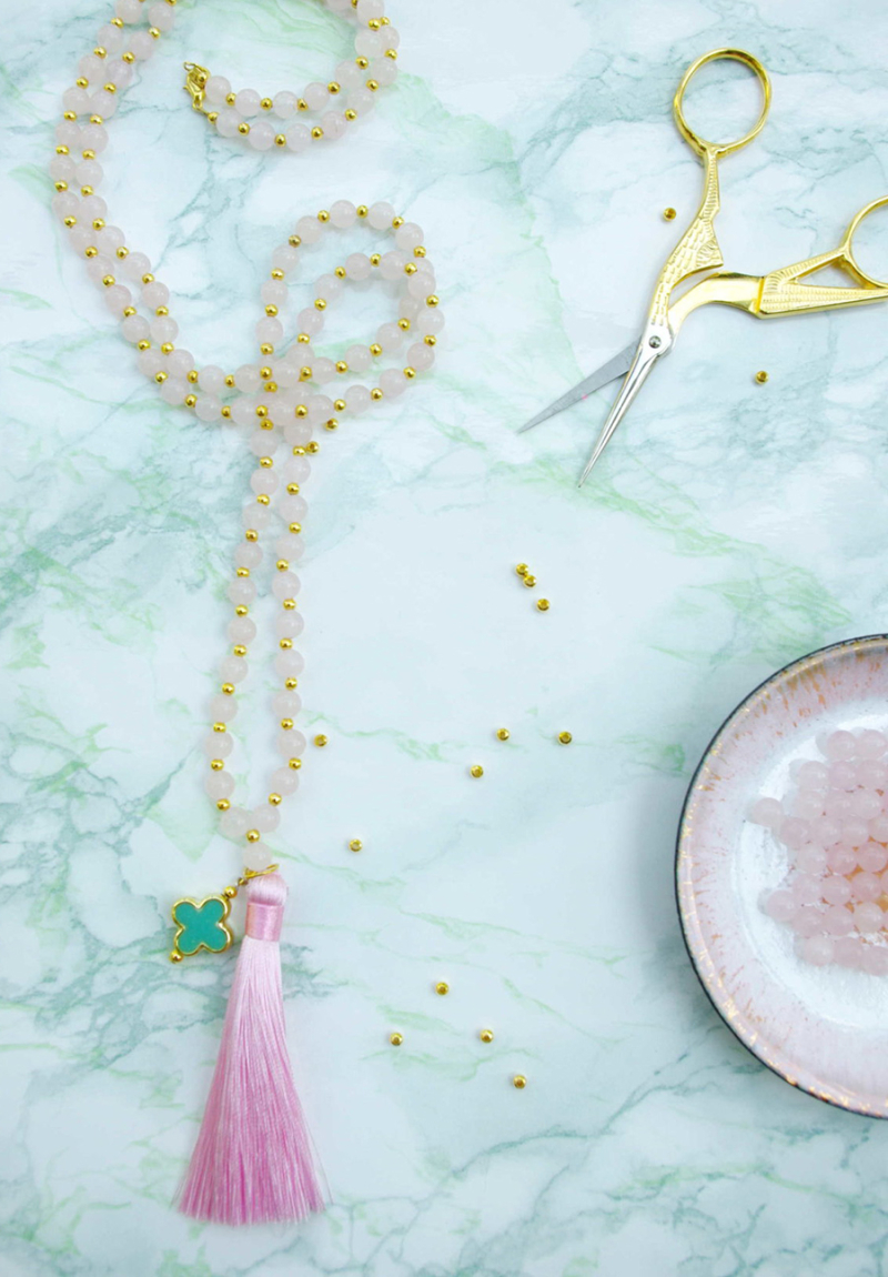 DIY-tassel-bead-necklace