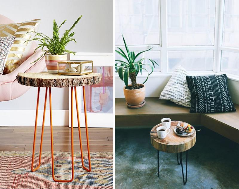 DIY-wood-slice-side-tables