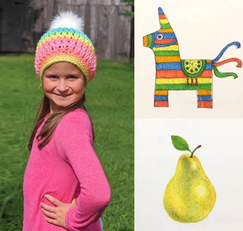 Crocheted-rainbow-hat