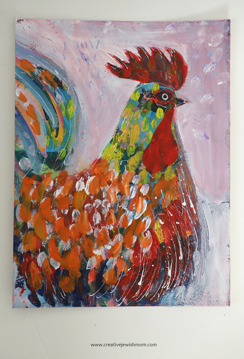 Modern-rooster-painting