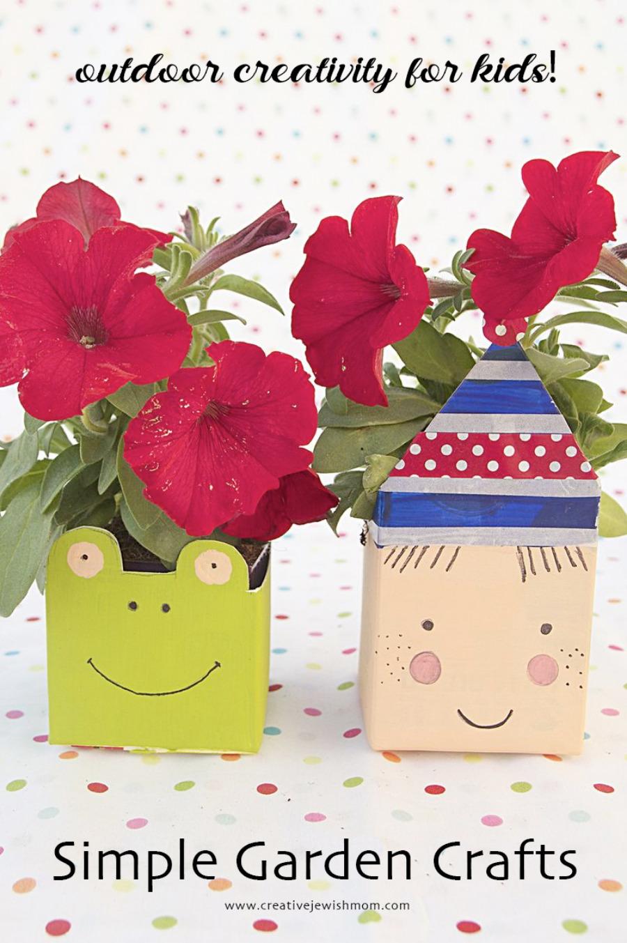 Garden-crafts-milk-carton-plant-pots-cute