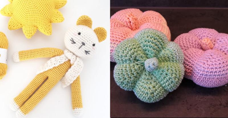 Crocheted-simple-pumkin cat-crochet