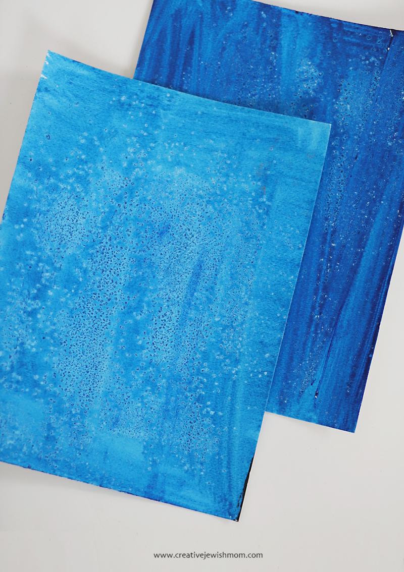 Make-pattern-with-kosher-salt-on-acrylic-paint