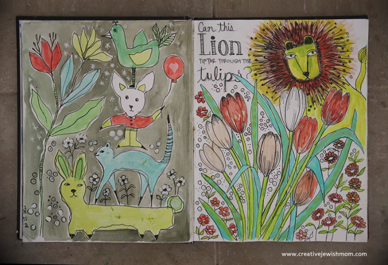 Sketchbook-whimsical-animals-watercolor