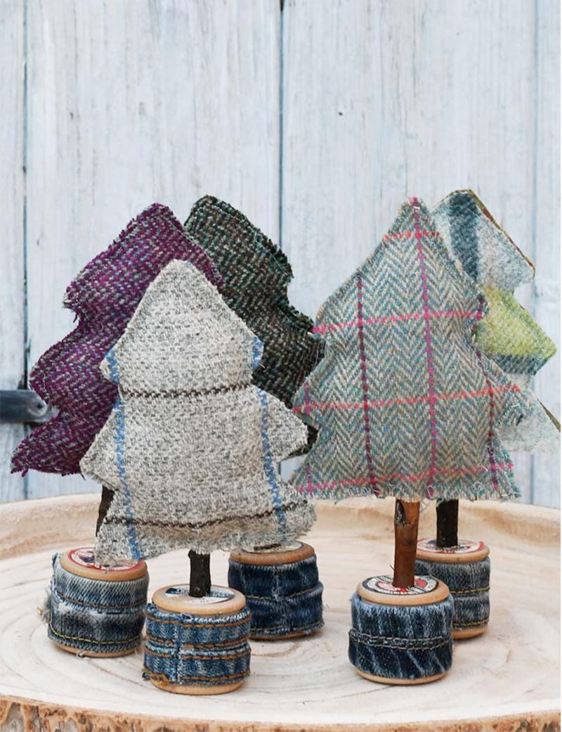 Tartan-fabric-pine-trees
