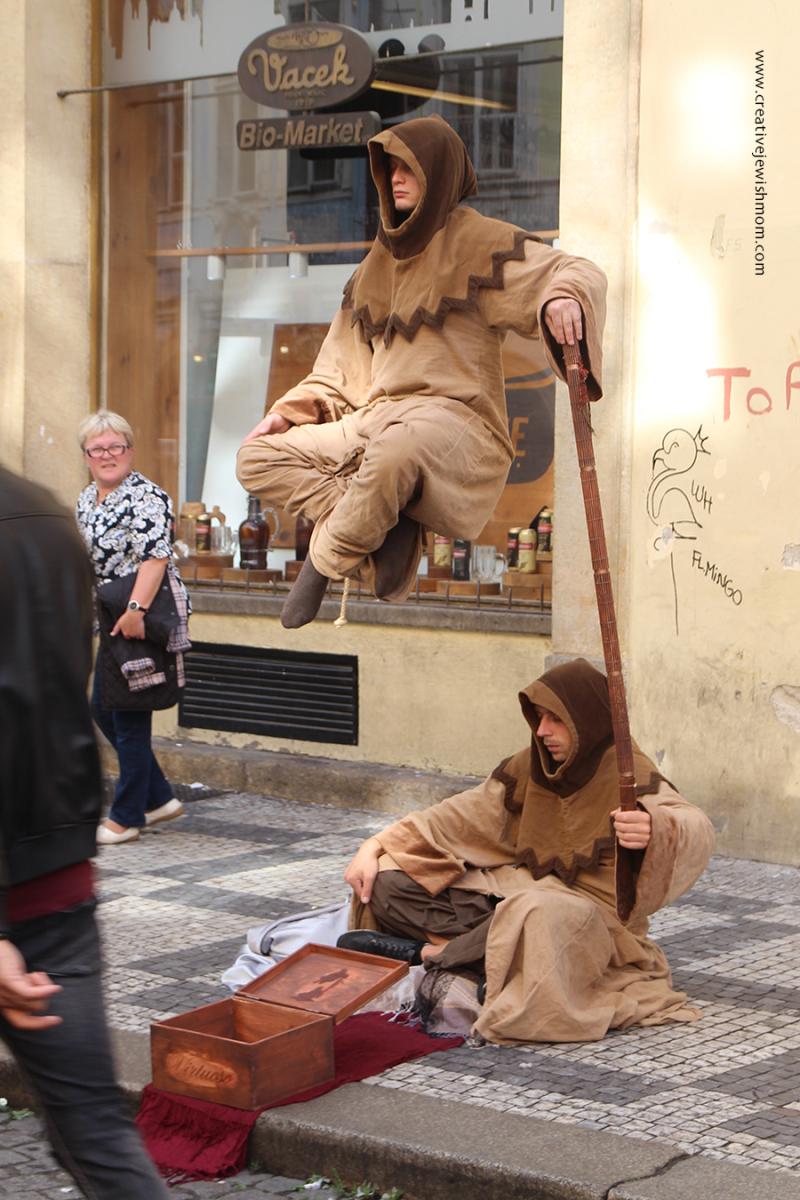 Prague-street-performer-floating-monk
