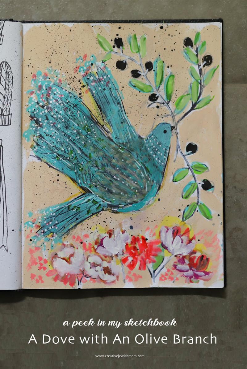 Sketchbook-dove-with-olive-branch