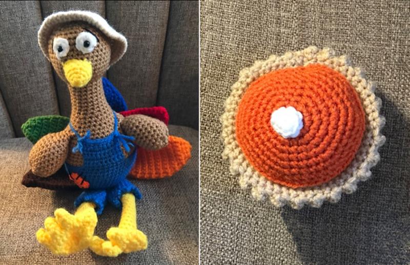 Crocheted-pumpkin-pie
