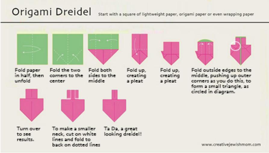 Origami-dreidel-folding-instructions