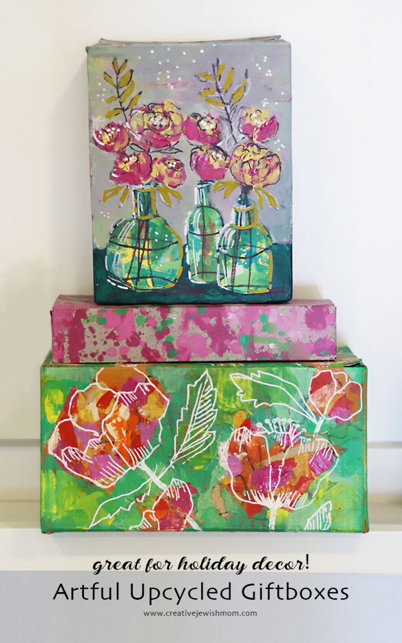 Upcycled-boxes-painted-for-gift-giving