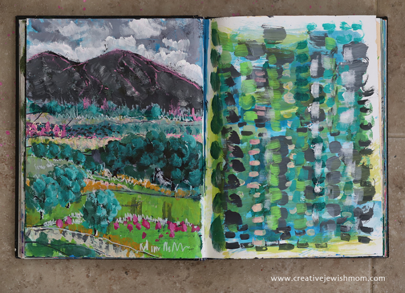 Sketchbook-landscape-with-abstract-painting