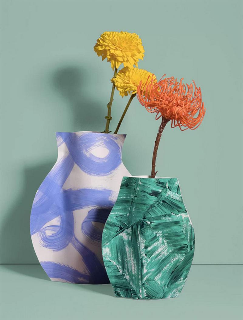DIY-paper-vases